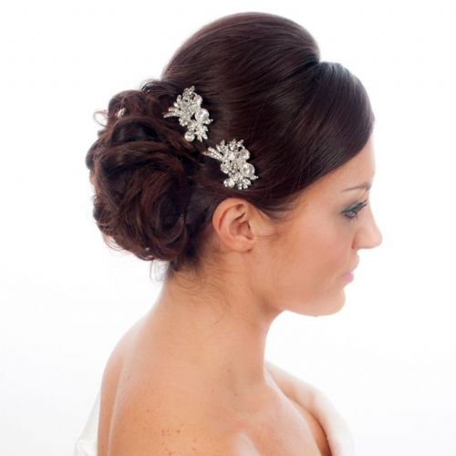 Vintage inspired Ava Crystal Bridal Hair Pin, Wedding Hair Accessory